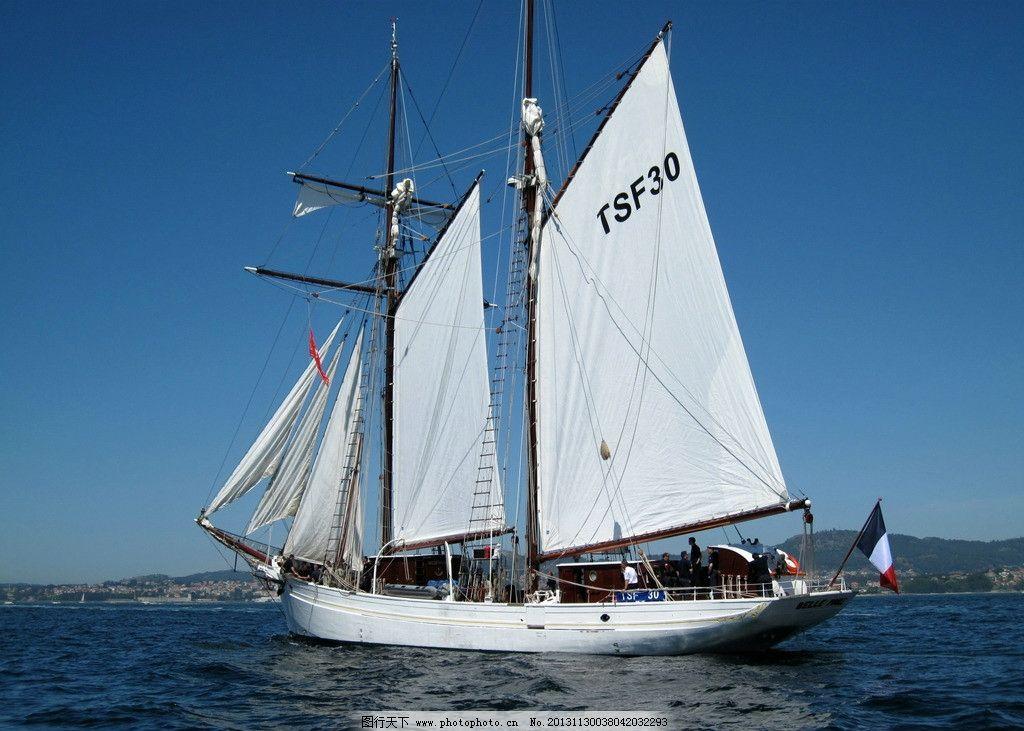 帆船 船舶 船 大海 现代科技 交通工具 摄影 180dpi jpg