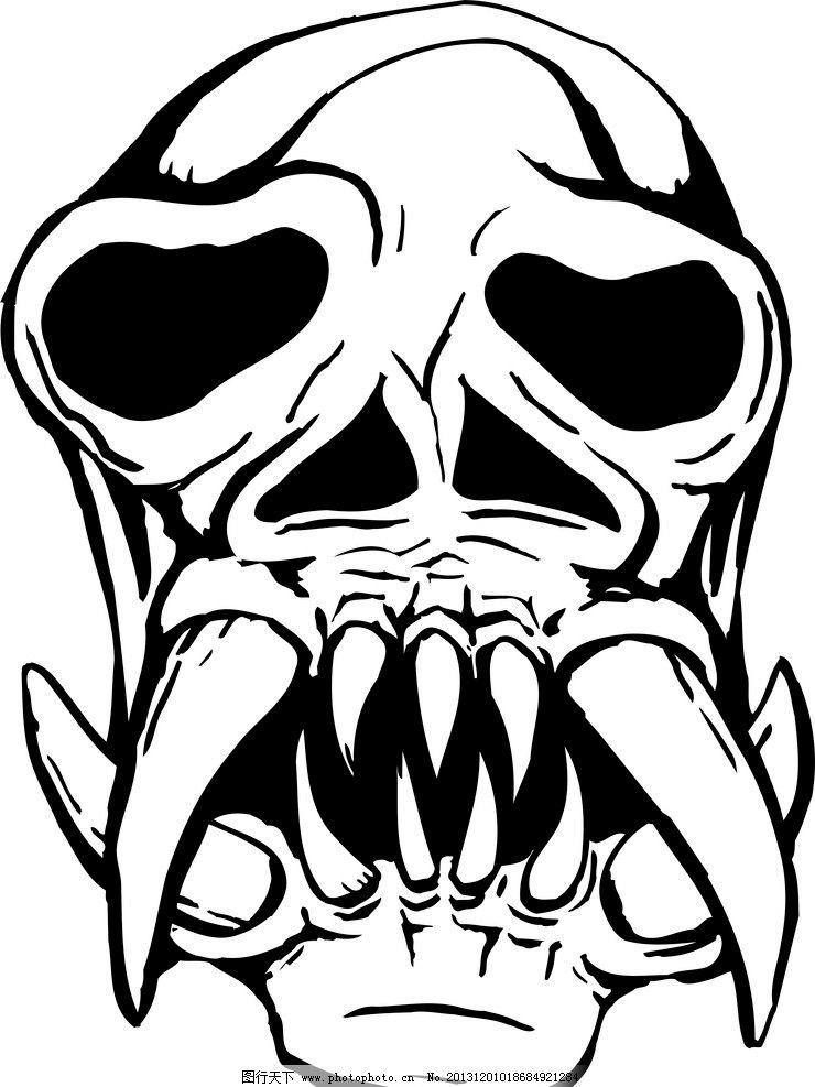 面具 骷髅 黑白 花纹 其他
