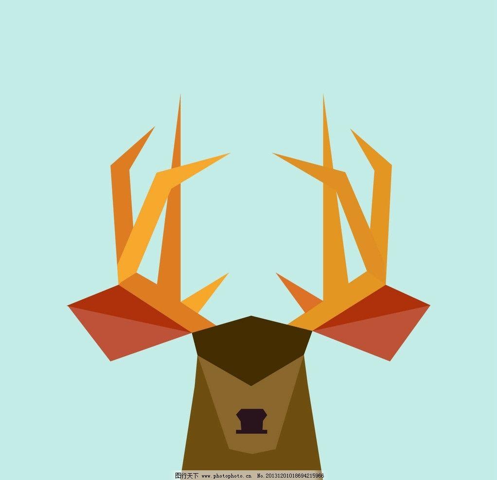 羚羊图标 羚羊 动物 几何 图案 创意 其他 动漫动画 设计 300dpi jpg