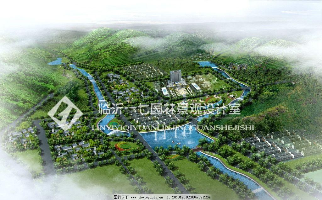 河道效果图 河道 喷泉 河坝 景观 绿化 建筑设计 环境设计 源文件 72