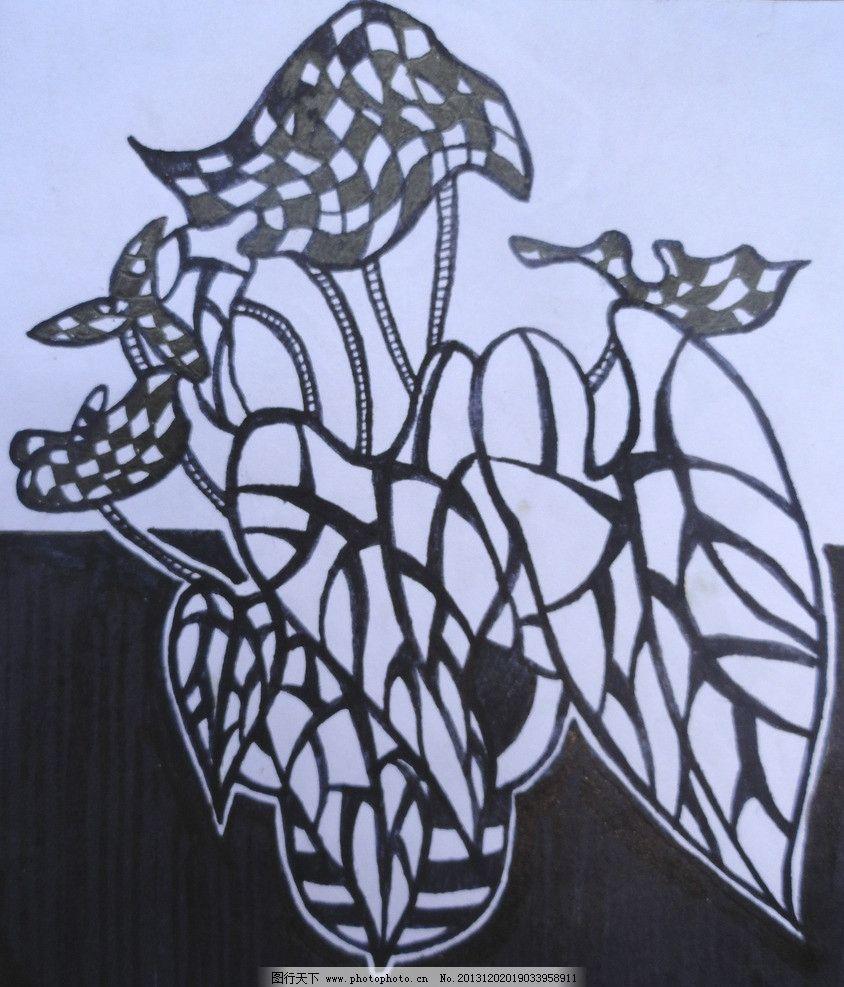 黑白 装饰绘画图片