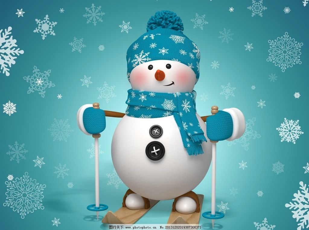 雪人 节日 圣诞节 背景