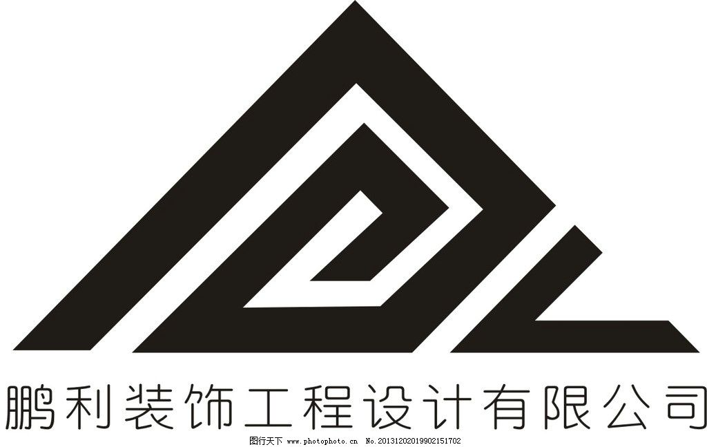 logo 企业logo 鹏利 装饰公司 装饰工程 企业logo标志 标识标志图标