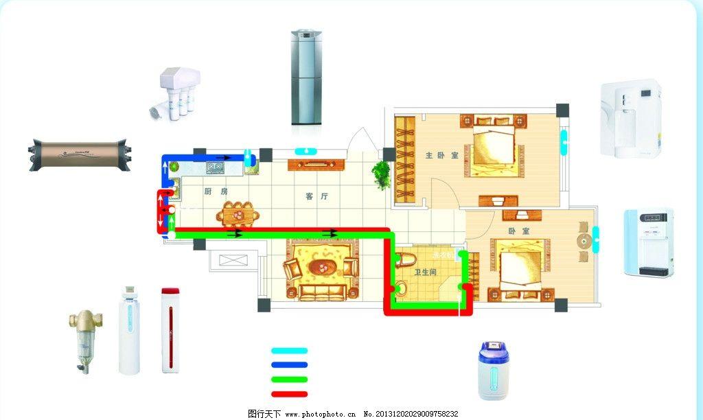 房屋供水图 房屋 供水图 平面设计图 室内 设计 其他设计 环境设计 源