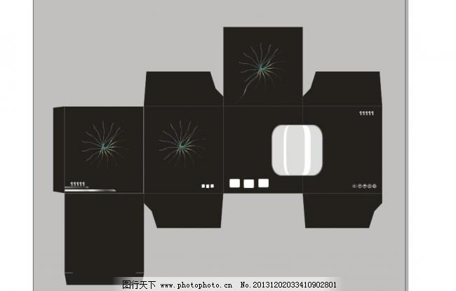 包装设计 广告设计 结构图