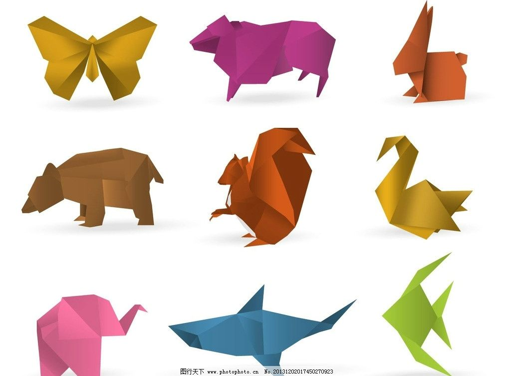 立体松鼠折纸图解