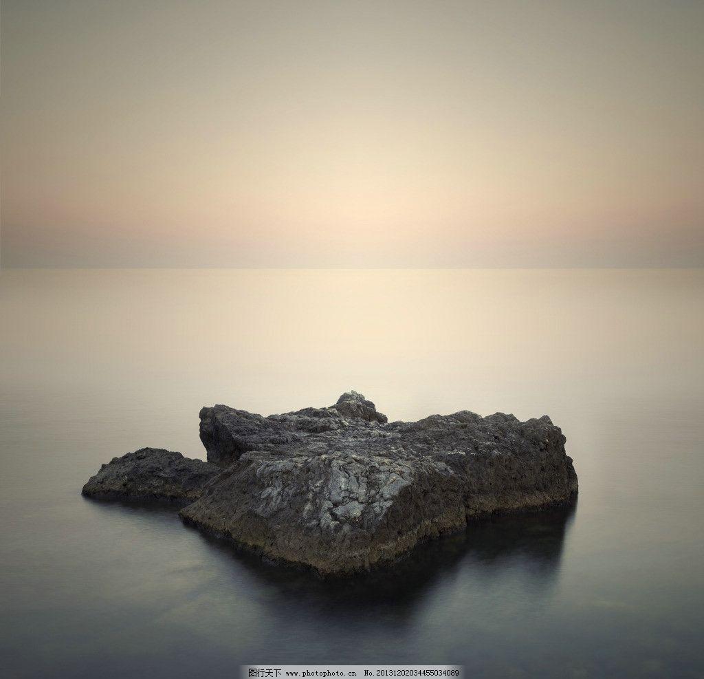 唯美 意境 礁石/唯美山岩礁石水景意境图片
