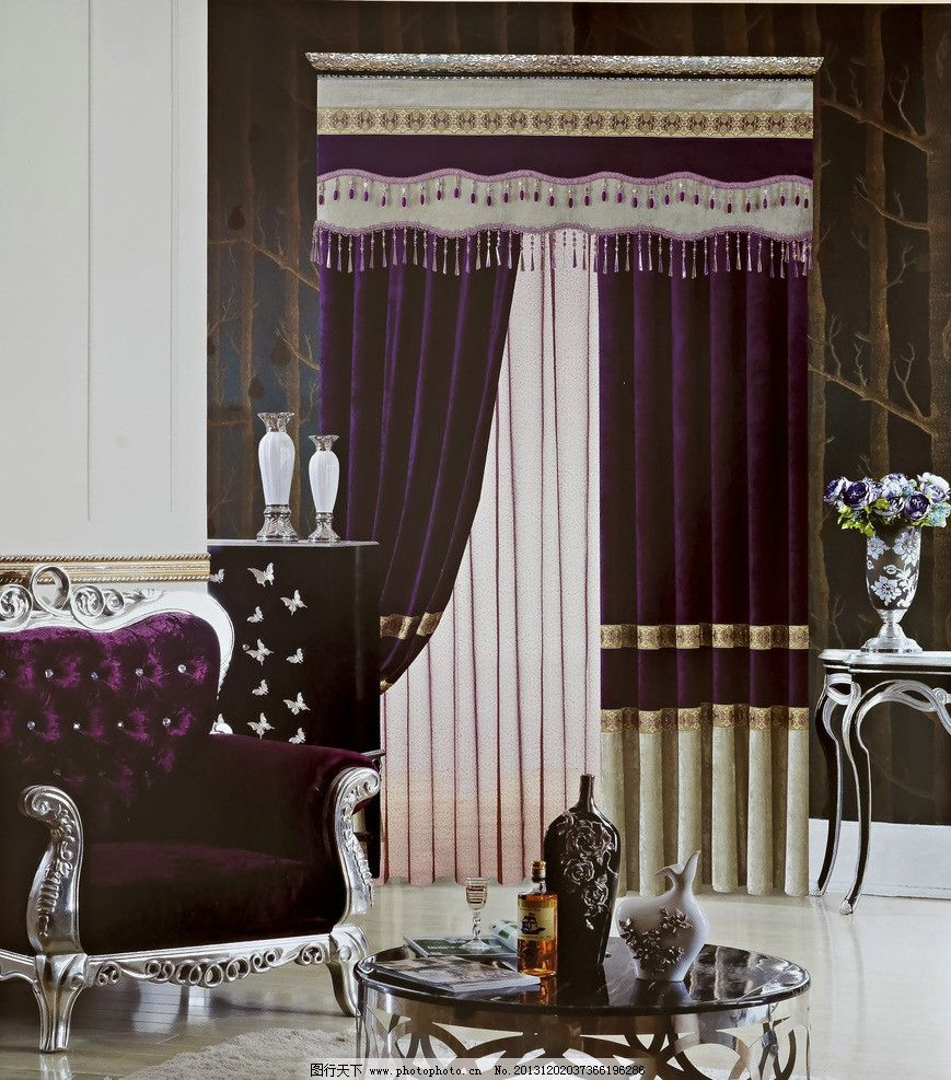 摄影素材 窗帘 设计 帘头 沙发 场景 软包 室内 道具 欧式帘头 花型