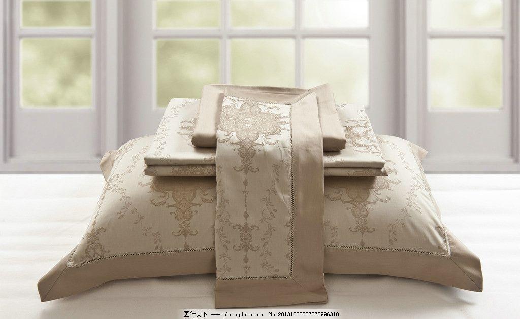 欧式花纹枕头黄灰色图片