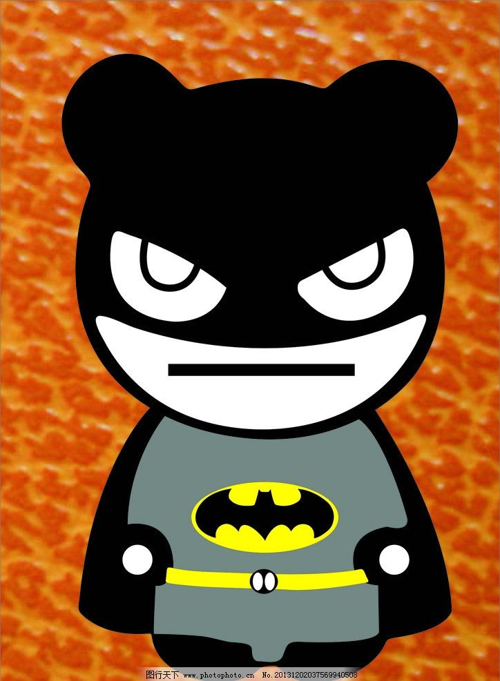 q版蝙蝠侠 萌 超人 卡片 卡通 可爱 情侣 手机膜 矢量 卡通设计
