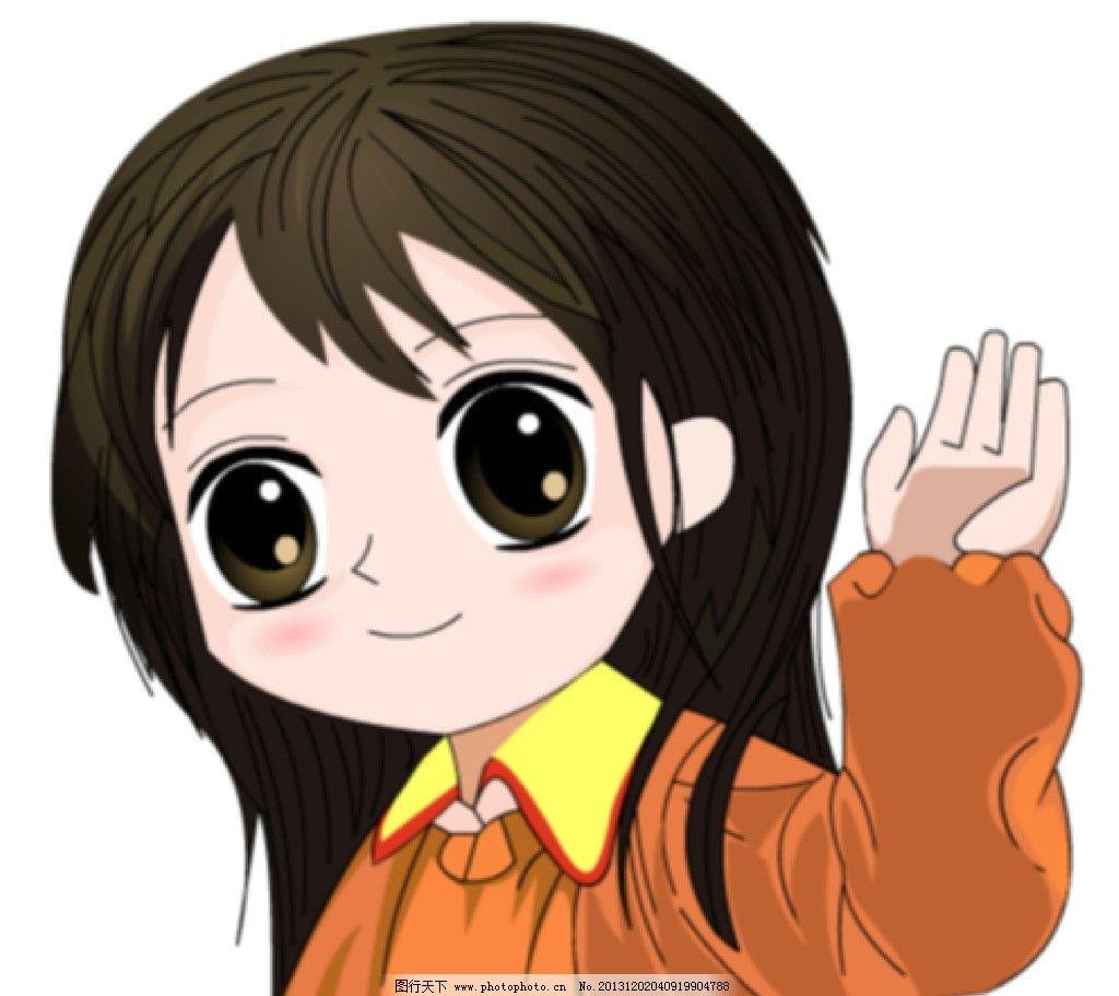 可爱的小女孩 可爱女孩 动漫小孩 小女孩 萌 生动 动画素材 flash动画