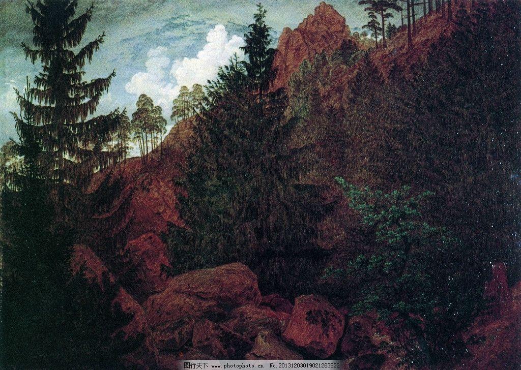 风景油画 油画 色彩 装饰画