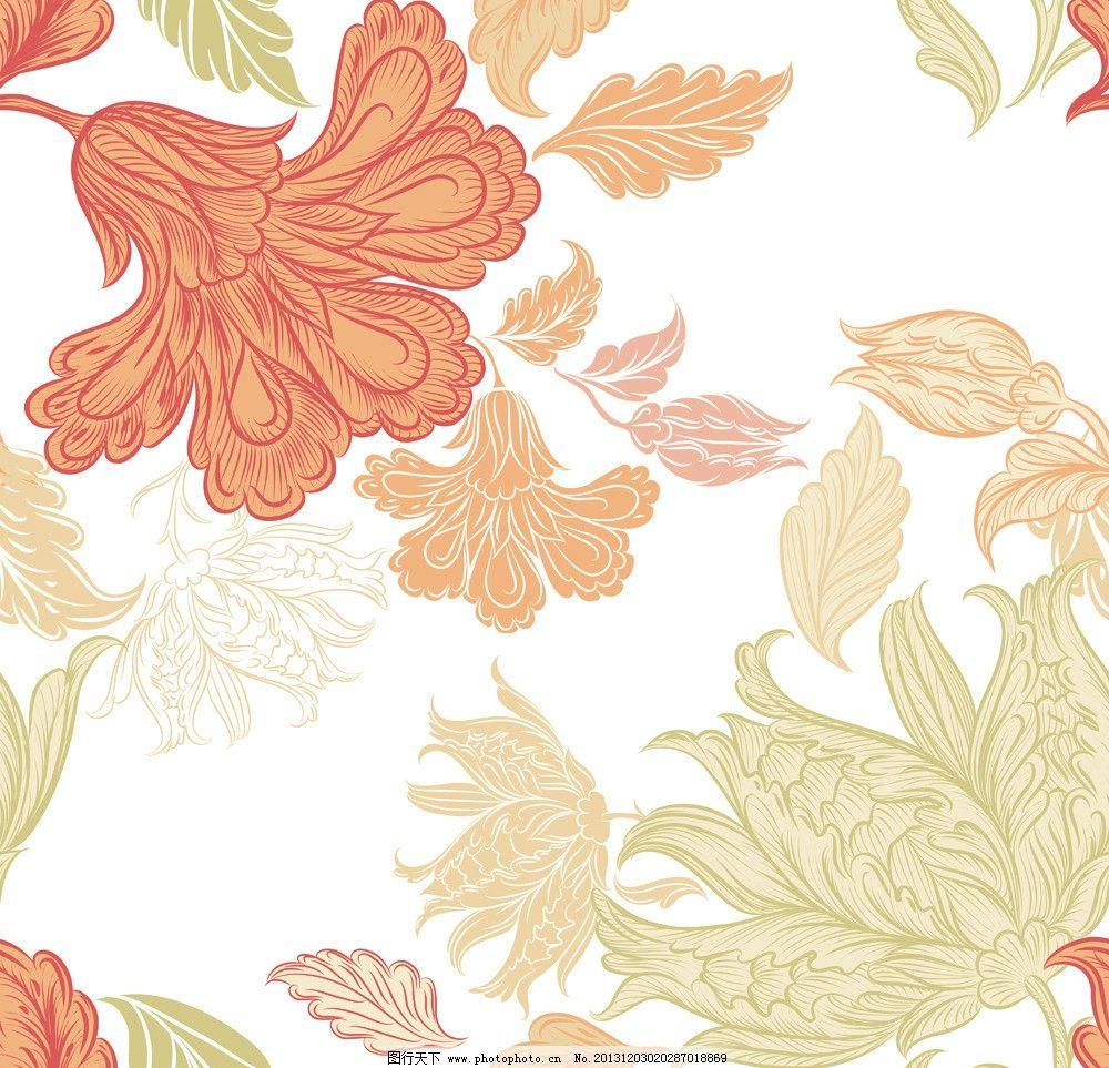 设计图库 标志图标 企业logo标志  欧式花纹 手绘花卉 线条手绘花纹