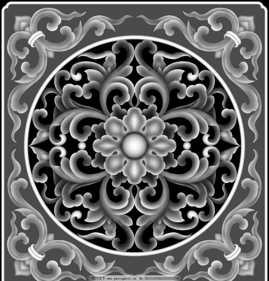 欧式 门花 洋花 杨花 浮雕 石雕 玉雕 木雕 灰度图 精雕图 中式 花边图片
