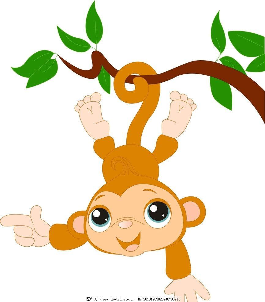 小猴子 开心 调皮 的 绿