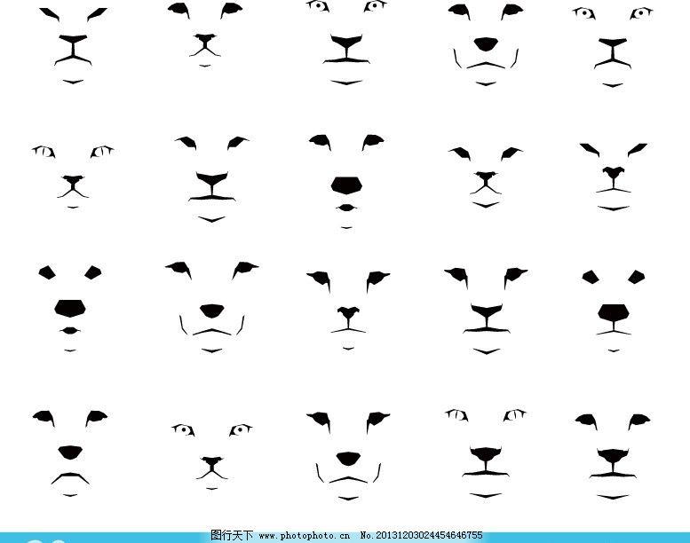 动物脸谱图片