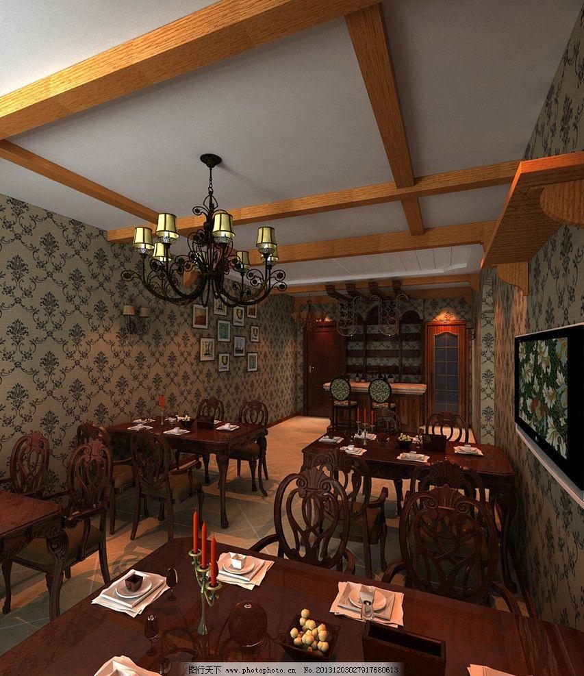 家庭咖啡吧 桌椅 家庭 咖啡吧 欧式        室内设计 环境设计 设计