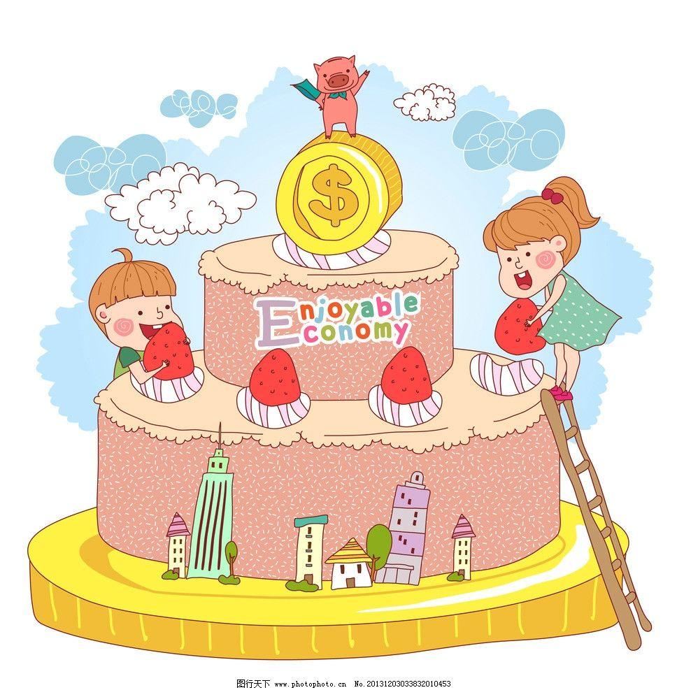 猪蛋糕图片可爱卡通