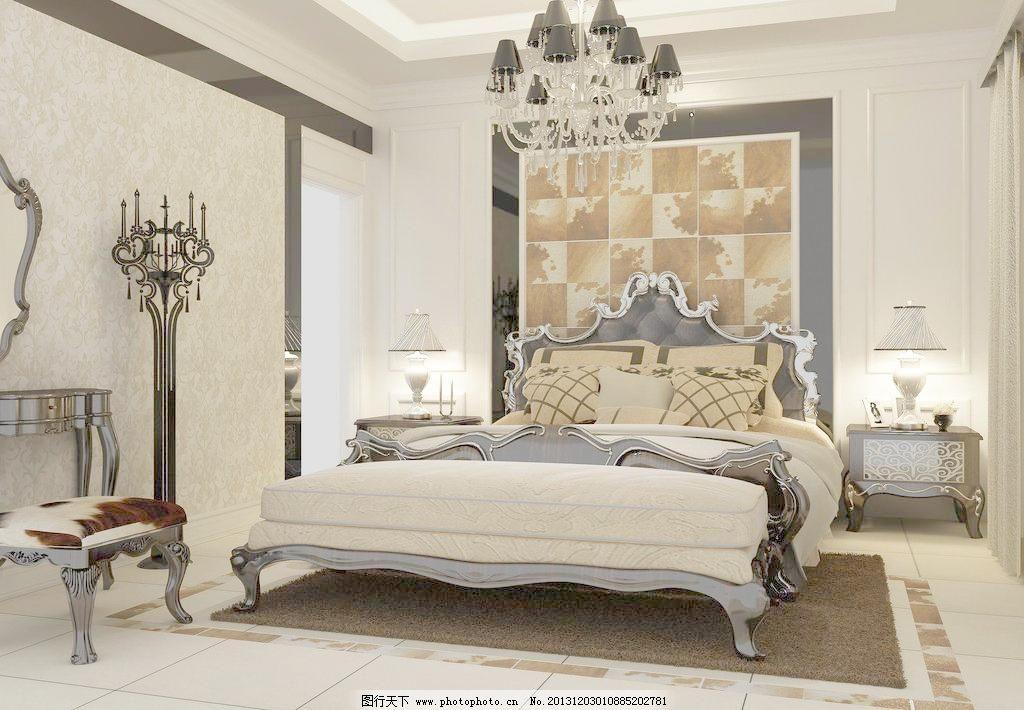 主卧欧式床效果图图片图片