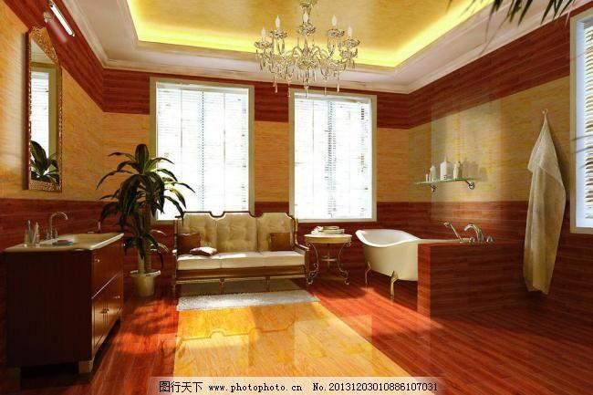 仿古 浴室 卫浴 仿古砖 木纹砖 木纹 瓷砖 木纹效果图 欧式铺贴 室内