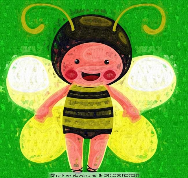 蜜蜂 儿童画 绘本 绘画书法 卡通画 手绘 文化艺术 蜜蜂设计素材