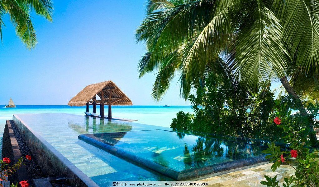 大海 海景 蓝色 蔚蓝 清澈 天堂 游泳池 马尔代夫风景系列二 国外旅游