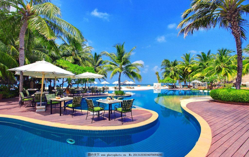 海景 蓝色 蔚蓝 清澈 天堂 仙境 游泳池 马尔代夫风景系列二 国外旅游