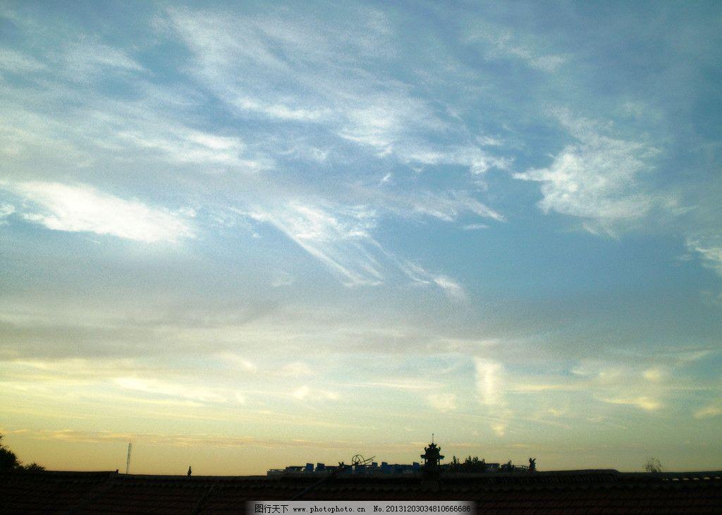 天空 白云 邢臺地區 風景 攝影 下午 圖片素材