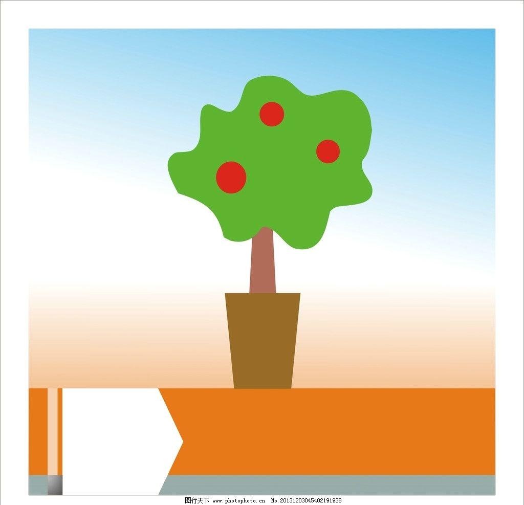 花盆 花纹 背景 边框 圆圈 素材 底纹 花草 生物世界 矢量 cdr