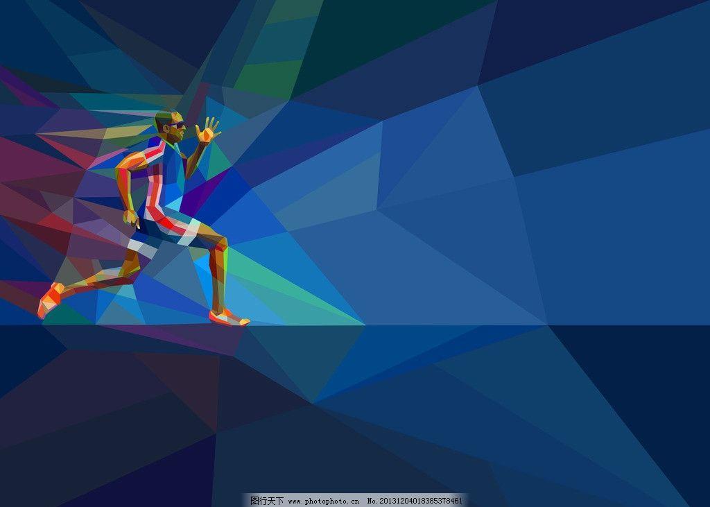 跑步人员 运动员 健康 冲刺 比赛 设计 创意 背景 动漫人物 动漫动画