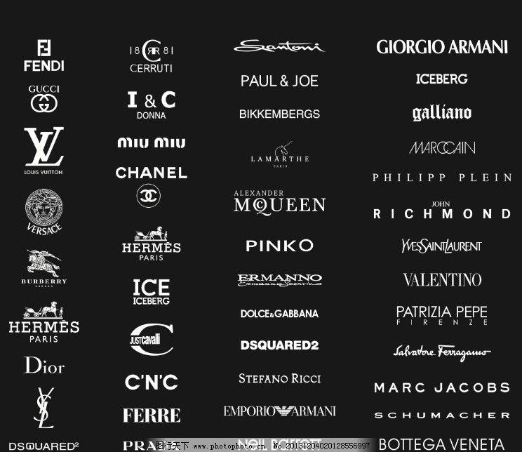 国际名牌衣服标志和图案大全