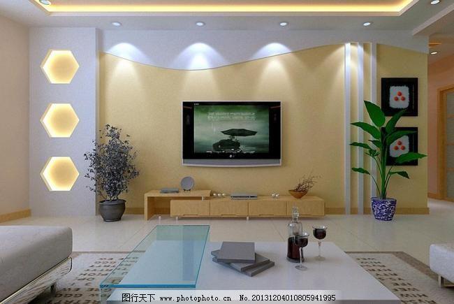 室内装饰影视墙效果图