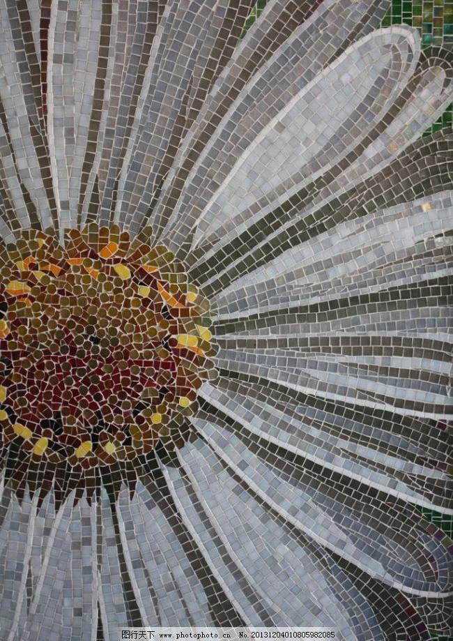 马赛克画 马赛克花朵设计素材 马赛克 马赛克剪画 壁画 艺术 欧式