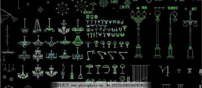 园林装饰灯具cad素材图片_其他_装饰坐标_图怎么素材用在cadv园林图片