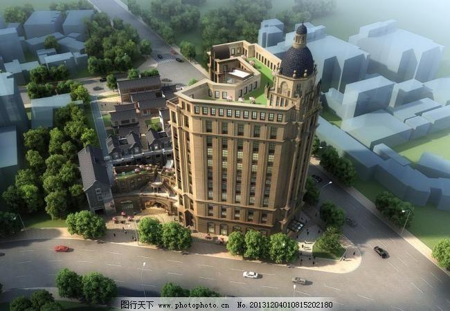 72dpi jpg 环境设计 建筑效果图 景观设计 鸟瞰 欧式建筑 设计