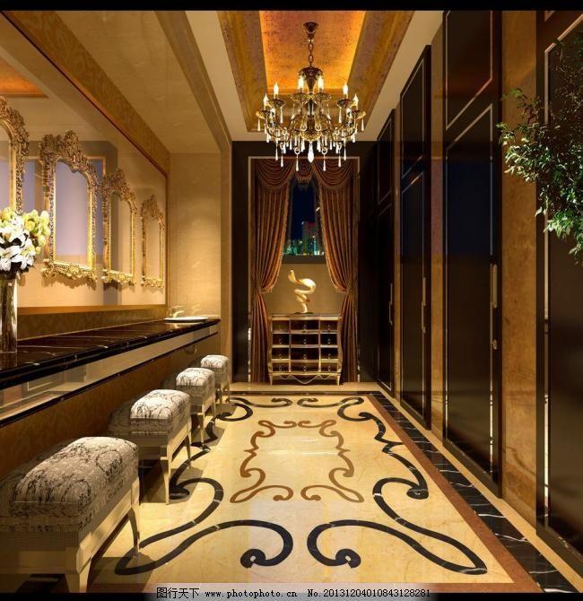 欧式卫生间图片,壁灯 瓷砖 大理石 高级 古典 洗手间