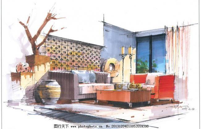 景观设计 设计 设计图库 室内设计 室内手绘 手绘      陈红卫作品 陈