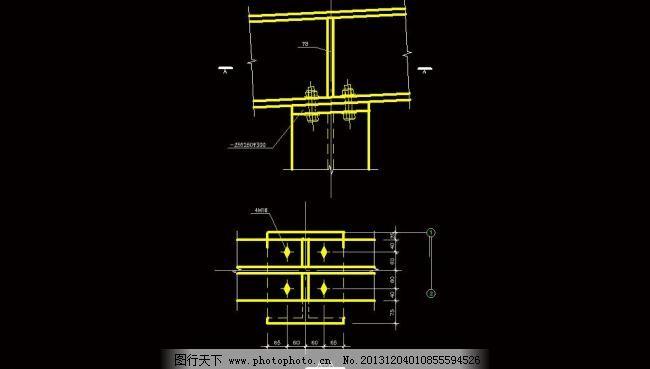 钢结构屋面梁柱连接图图片
