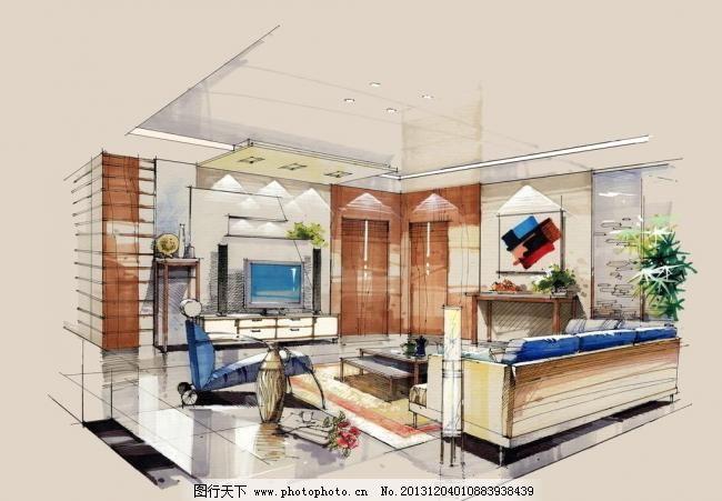 沙发 设计 手绘 效果图 环境设计 室内效果图 300dpi jpg 家居装饰