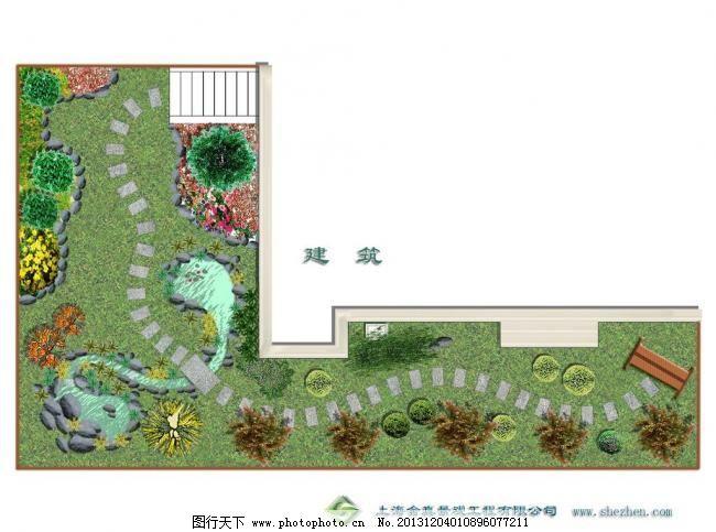 庭院景观平面图模板下载