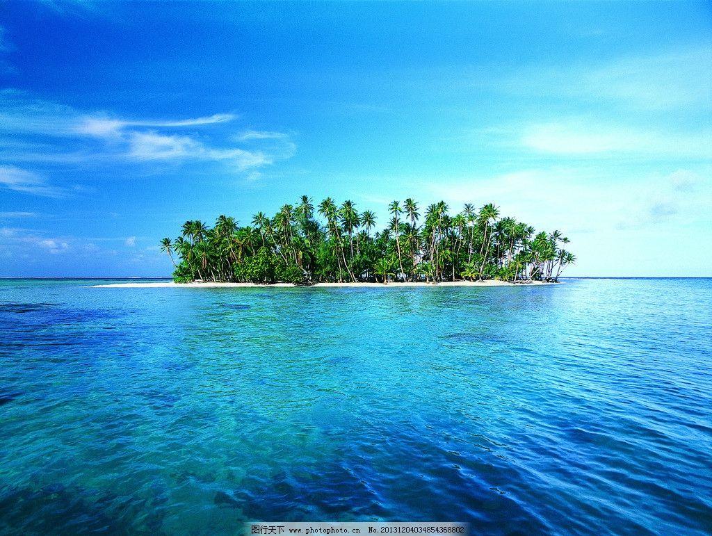 椰风海岛 海 椰树 蓝色 海岛 绿 阳光 沙滩 旅游 度假 自然风景 自然