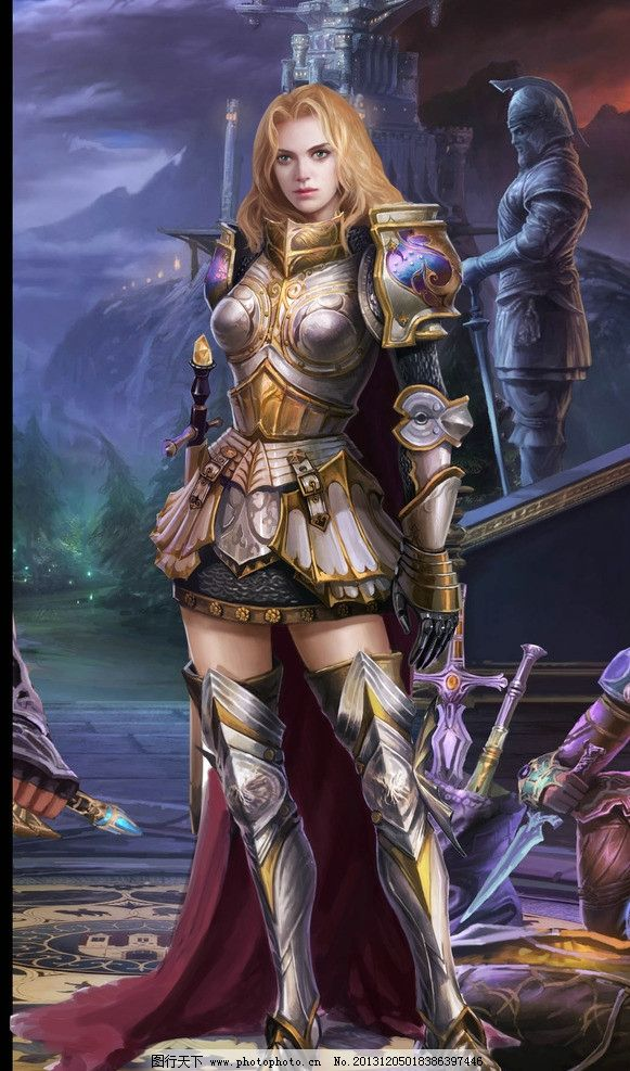 游戏 原画 完美时空 玄幻 美女 女战神 女战士 女神 cg 动漫人物 动漫