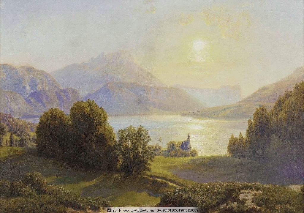 风景油画 油画 色彩 装饰画图片