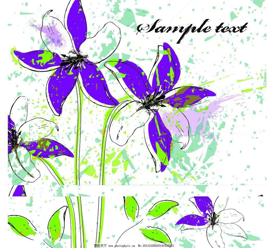 幼儿园美术花朵线条画