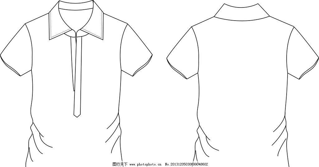 衬衫 矢量图 休闲 t恤 版型 服装设计 广告设计 矢量 ai