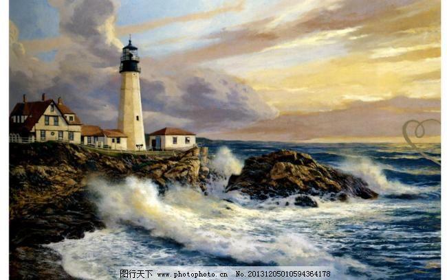 海浪 海浪模板下载 绘画书法 山水油画 外国风景 外国油画 文化艺术