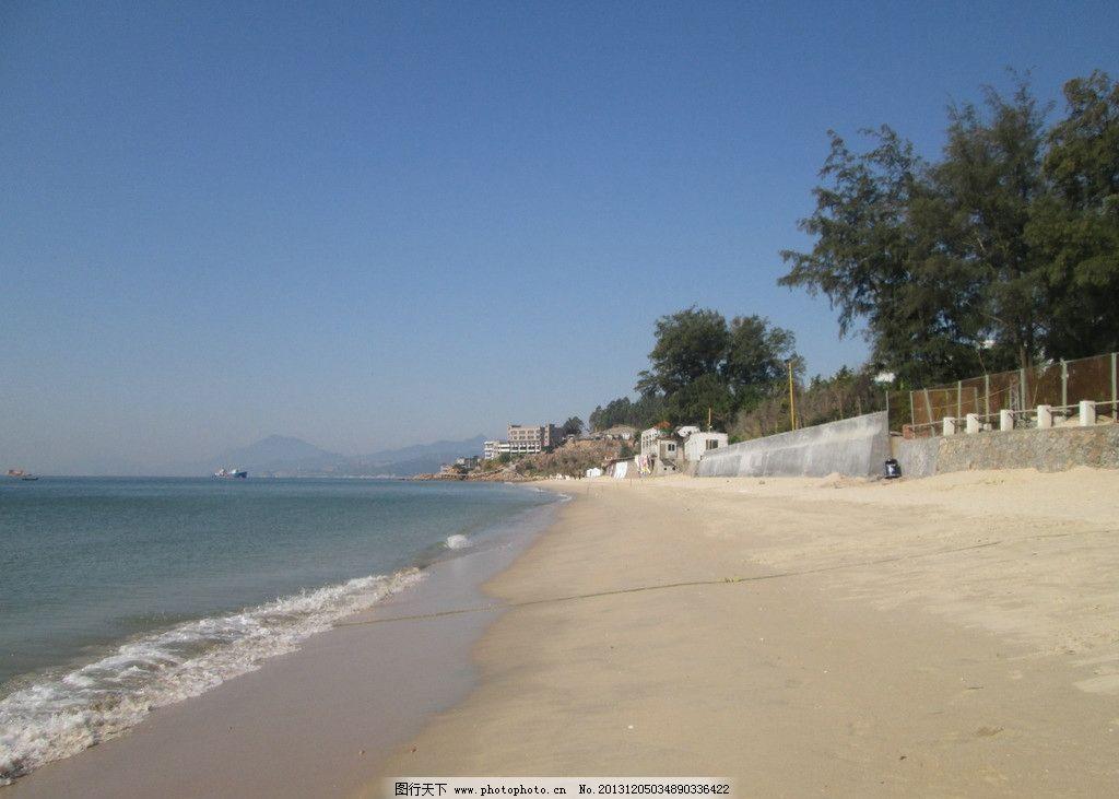 沙滩 海滩 大海 海水 蓝天 高山 海湾 度假村 海边 深圳大鹏 大鹏半岛