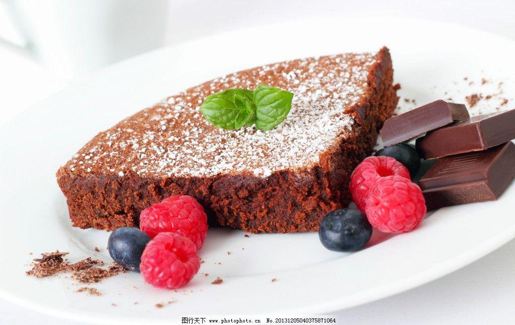 蛋糕 水果 蓝莓 覆盆子 巧克力 糕点 点心 甜点 甜品 美食 诱人 营养