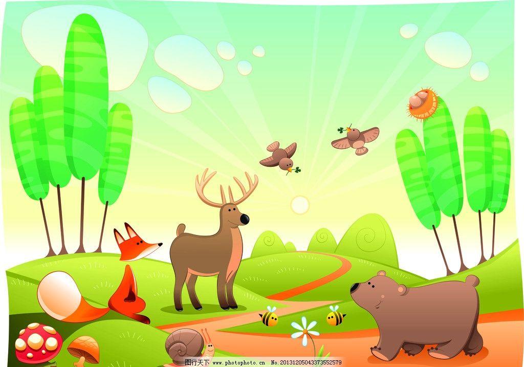卡通素材 卡通动物 鹿
