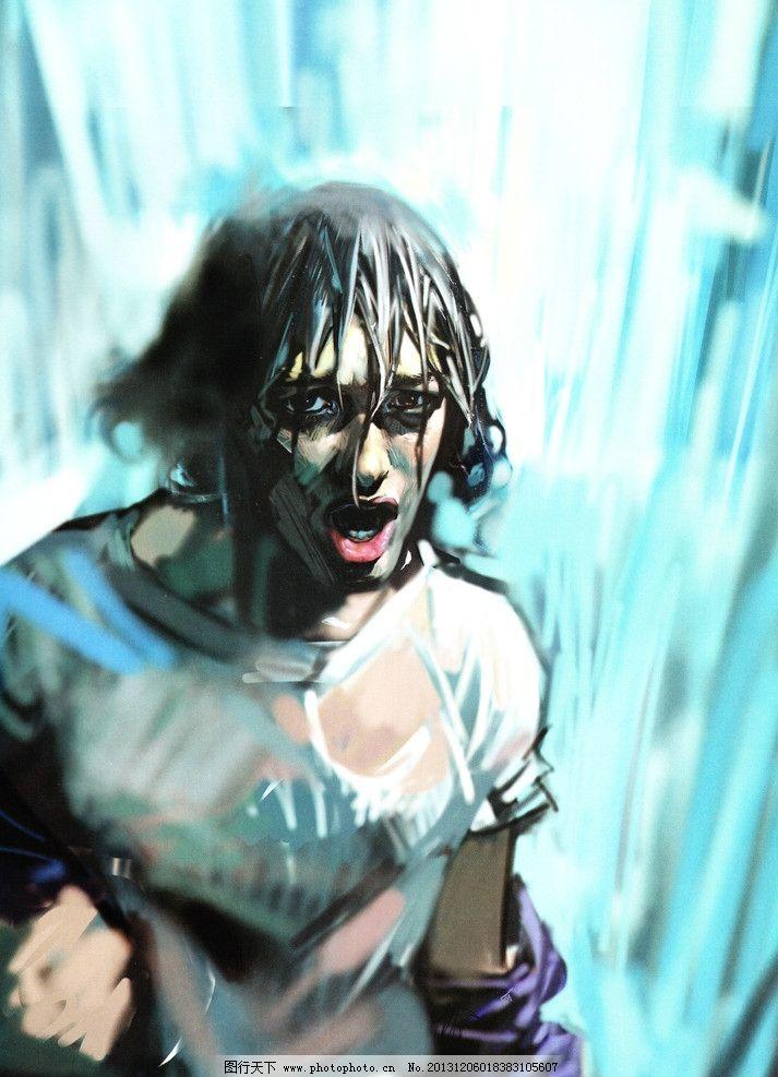 本杰明 水彩画 艺术 600dpi 人物      动漫人物 动漫动画 设计 jpg